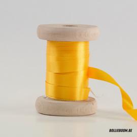 Zonnegeel satijnlint 1cm (per meter)