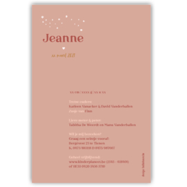 Regenboog geboortekaartje JEANNE