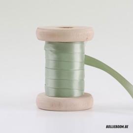 Zijdegroen satijnlint 1cm (per meter)