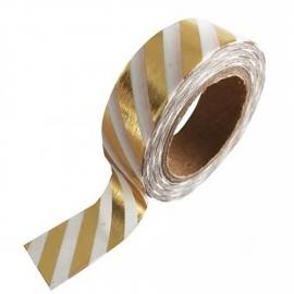 Witte masking tape met gouden strepen