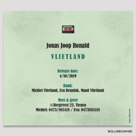 Cassette geboortekaartje JONAS