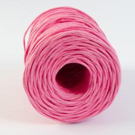 Roze papieren koord met ijzerdraad (per meter)