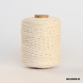 Gebroken witte katoenen koord (per meter)