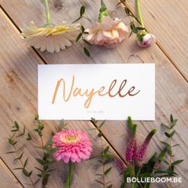 Koperfolie | Nayelle  | 13 februari 2021