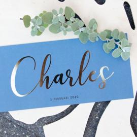 Goudfolie | Charles |  3 februari 2020