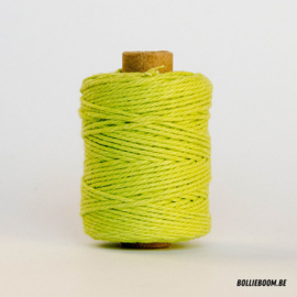 Lime katoenen koord (per meter)