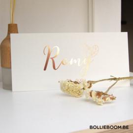 Goud rosé folie   Romy   27 september 2020