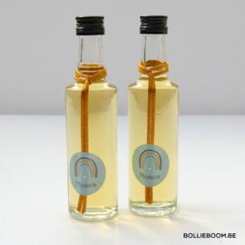 Rond glazen flesje met lange hals, 50 ml