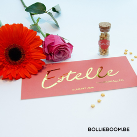 Geboortekaartje Estelle ***goudfolie