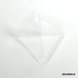Transparant piramidedoosje