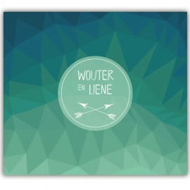Huwelijksuitnodiging Wouter & Liene (groen)