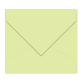 Pastelgroene envelop