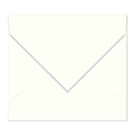 Gebroken witte envelop
