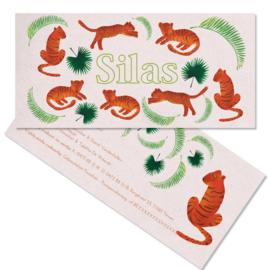 Tijgers geboortekaartje SILAS