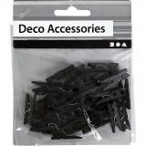 Zwarte kleine wasspeldjes: 36 stuks