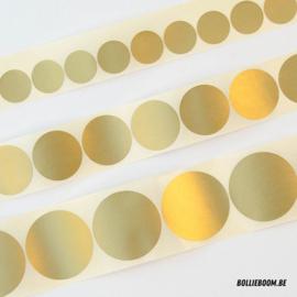 Ronde gouden sticker