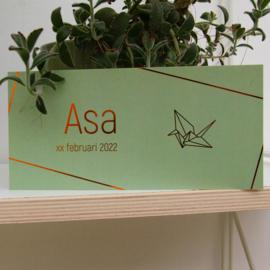 Koperfolie geboortekaartje ASA