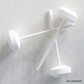 Witte dextroze lolly