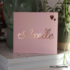Goud rosé folie | Axelle | 21 december 2020