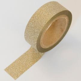 Masking tape goud glitter