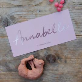 Goud rosé folie op oudroze achtergrond | Annabelle |  3 februari 2020