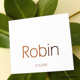 Koperfolie | Robin | 6 maart 2020