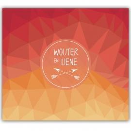 Huwelijksuitnodiging Wouter & Liene (rood)