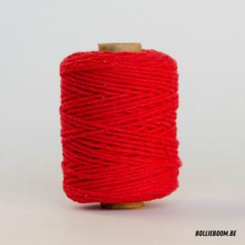 Rode katoenen koord (per meter)