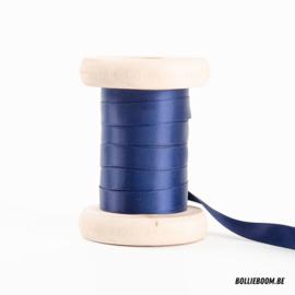 Donkerblauw satijnlint 1cm (per meter)