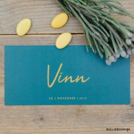 Geboortekaartje Vinn