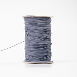Donker cactusblauwe elastiek (per meter)