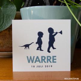 Geboortekaartje Warre