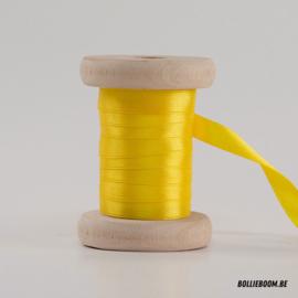 Kanariegeel satijnlint 1cm (per meter)
