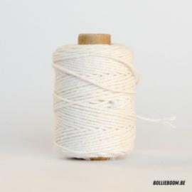Witte katoenen koord (per meter)