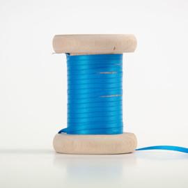 Turquoise satijnlint 3 mm (per meter)