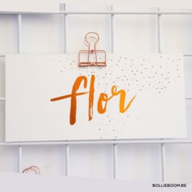 Koperfolie geboortekaartje FLOR