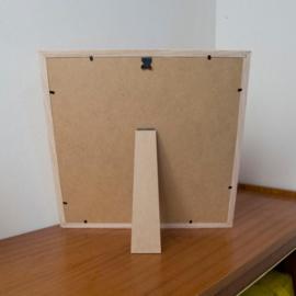 Vergroting in houten kader