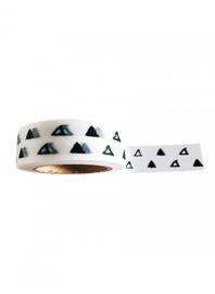 Witte masking tape met getekende driehoeken