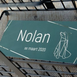 Goudfolie geboortekaartje NOLAN