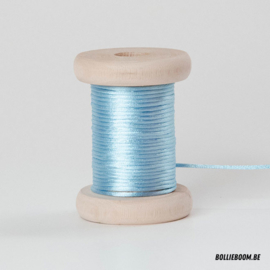 Lichtblauwe satijnkoord (per meter)