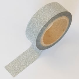 Masking tape zilver glitter