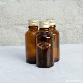 Amber glazen flesje