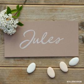 Eco papier geboortekaartje JULES