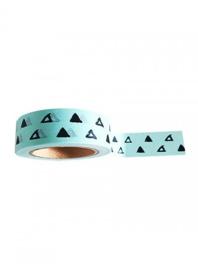 Mint masking tape met getekende driehoeken