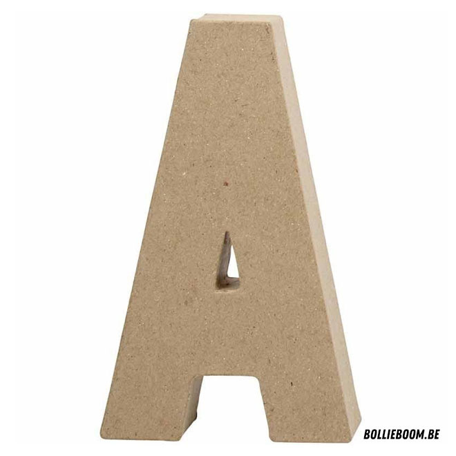 Letter in papier maché