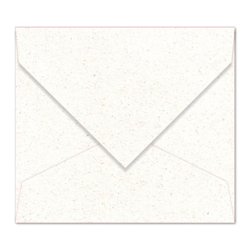 Gebroken witte (met spikkels) envelop