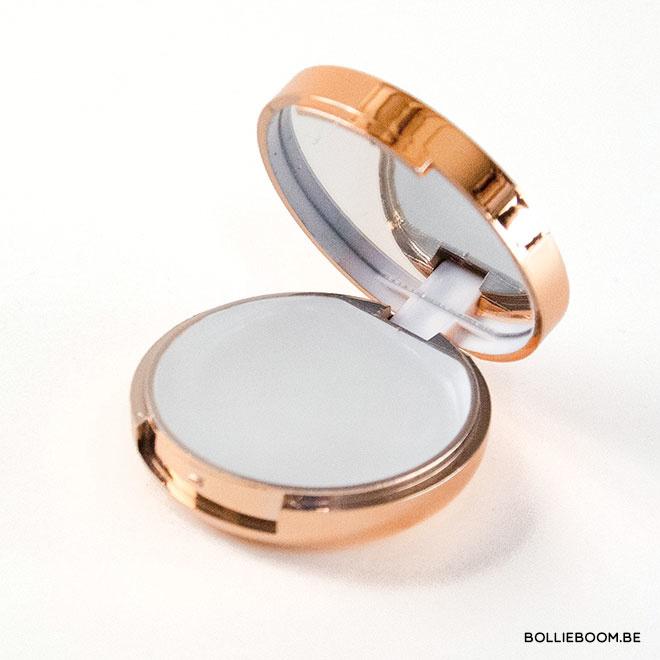Lippenbalsem met spiegel in goud rosé