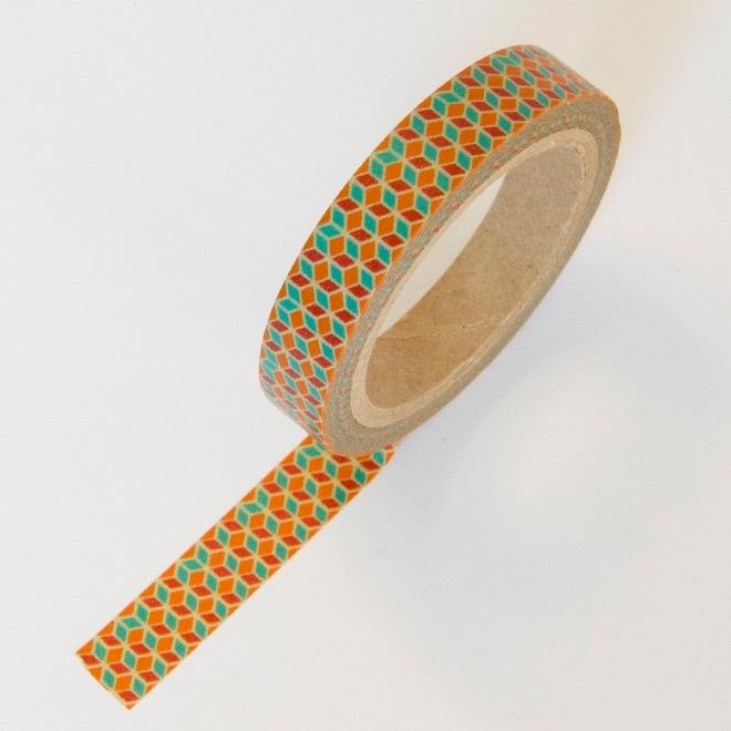 Masking tape kubussen