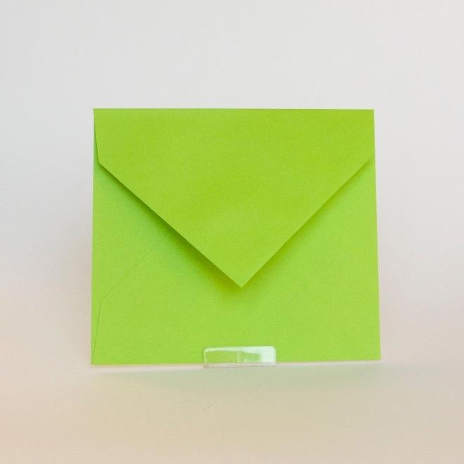 Envelop maat 12.5 x 14 cm