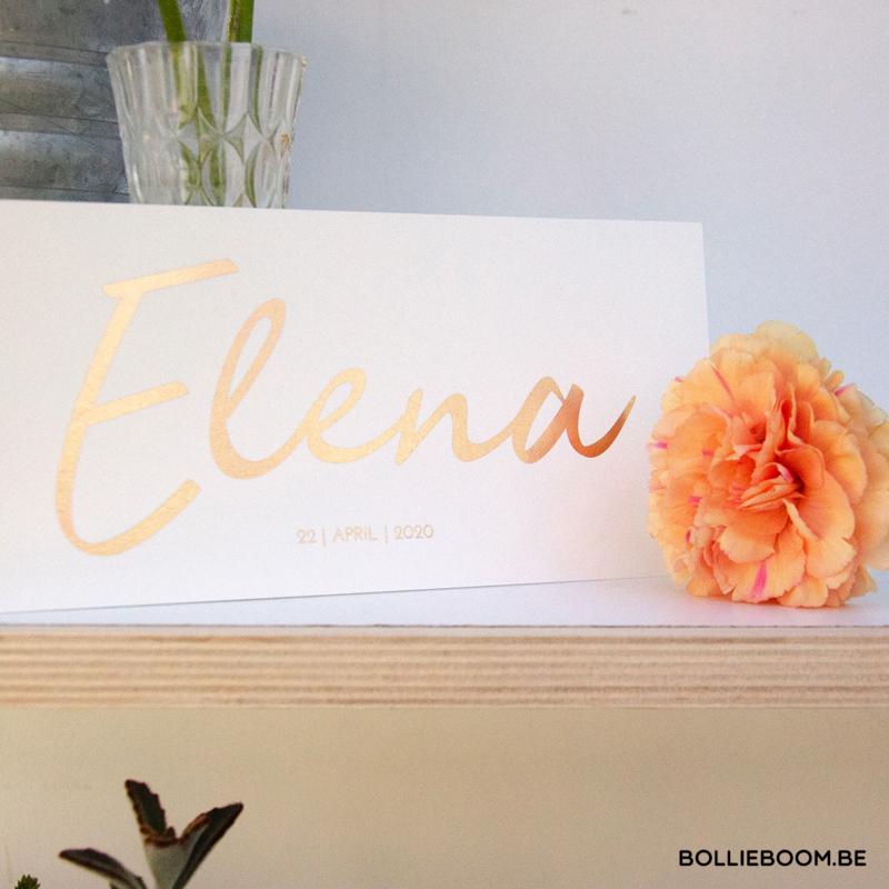 Goud rosé folie    Elena   22 april  2020